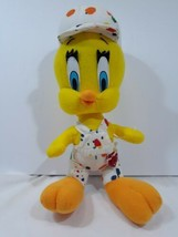 ** Tweety Looney Tunes Bird Plush 1998 ACE Warner Bros Painter Outfit - $15.54