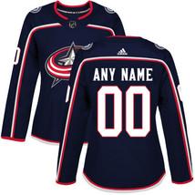 NHL Customized Columbus Blue Jackets Women's Navy Blue Home Jersey - €55,91 EUR
