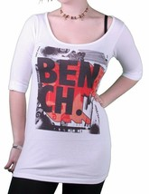 Bench Urbanwear Griswold White Relaxed Fit Wide Crew Neck Sexy T-Shirt BLGA233 image 1
