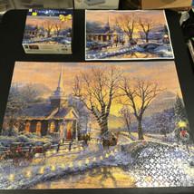 "Thomas Kinkade Holiday Evening Sleigh Ride Jigsaw Puzzle - 1000 Piece - 27""x20"" - $17.77"