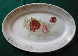Homer Laughlin Large Rose Platter - $9.99