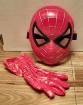 2004 Marvel Spider-Man the Movie- Plastic Mask & Glove - $10.88