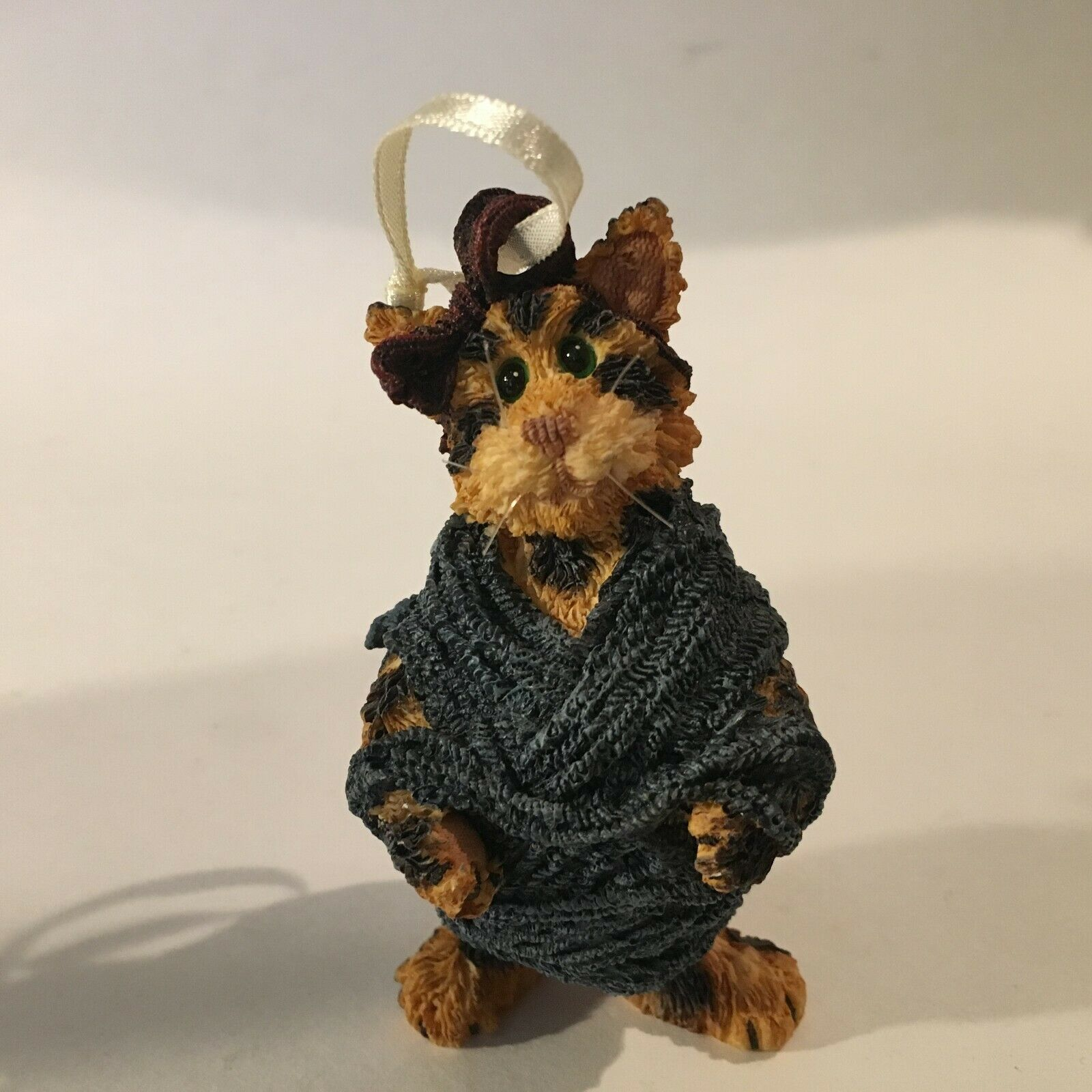 "Boyd's Bears & Friends Resin Figurine Blue Outfit Resin Yarn 3.5"" X 2"""