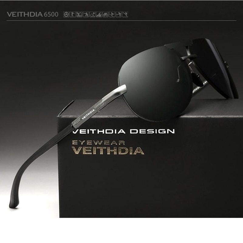 2017 VEITHDIA Aluminum Magnesium Men Sunglasses Polarized Classic Sun Glasses Ma
