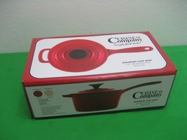 Cuisine Company Red 2.5 Qt Enameled Cast Iron Sauce Pan Pot with Lid NIB - $46.71