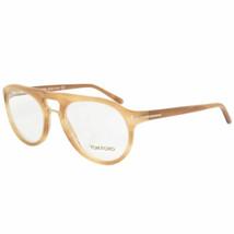 Neu Tom Ford Unisex Rund Brille FT5007 663 49 Hellbraun Rahmen Schnellversand - $126.72