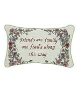 """Friends Are Family"" Floral Rectangular Throw Pillow 8.5"" x 12.5"" - $22.84 CAD"