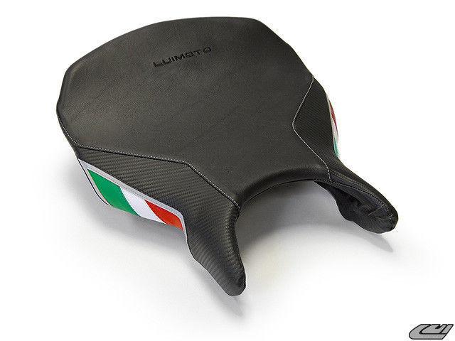Ducati 748 Seat Cover Monoposto Black Carbon Fiber Green White Red Rider Luimoto