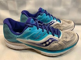 SAUCONY Ride 10 Running Jogging Shoes Women's Size 9.5 Blue Purple S10373-3 - $24.74