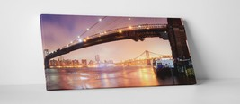 "New York Brooklyn Bridge Panoramic I Gallery Wrapped Canvas Print. 45""x16"" - $129.15"
