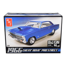 Skill 2 Model Kit 1966 Chevrolet Nova Pro Street 1/25 Scale Model by AMT... - $40.84