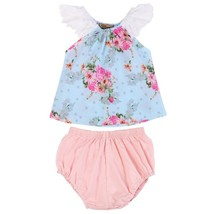 Baby Girls Floral Lace NewbornSleeveless Tops+ Shorts Pants Outfits Clot... - $10.99