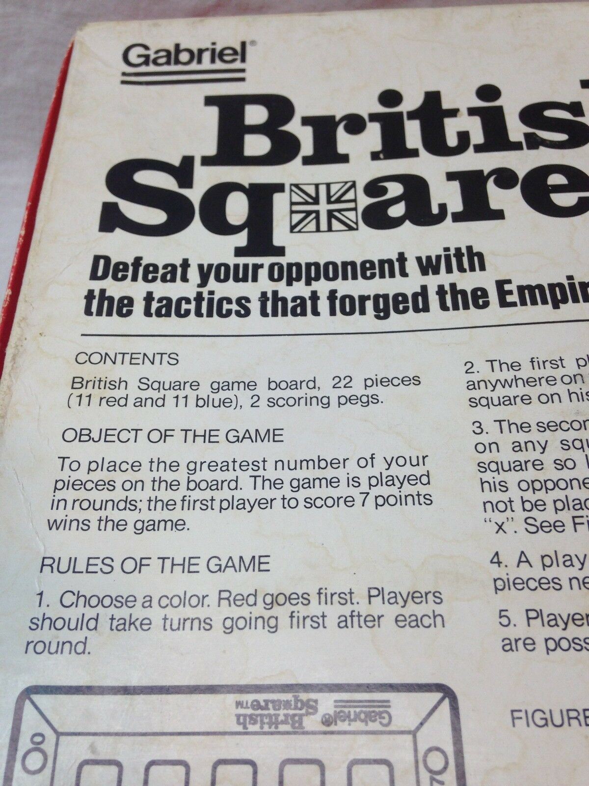 BRITISH SQUARE Gabriel THE STRATEGY GAME OF POSITION 1978