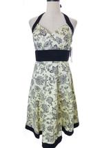 Black & Ivory Floral Print Halter Dress Size 10 R&K - $38.00