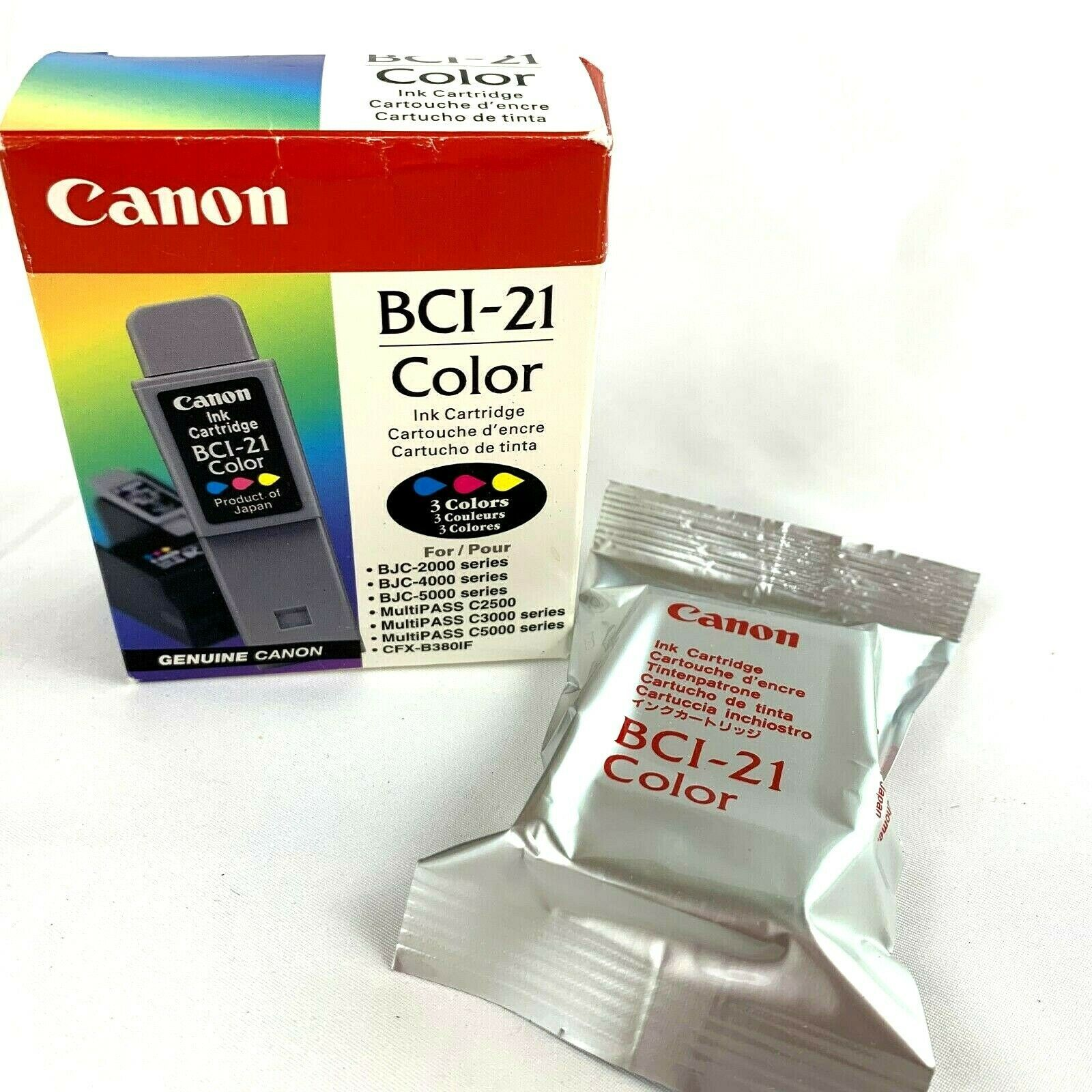 Genuine CANON BCI-21 Color ink cartridge sealed in the box  - $8.61