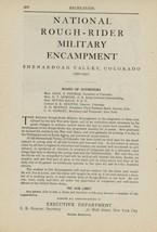 1900 National Rough Rider Military Encampment Ad Shenandoah Valley Color... - $10.00