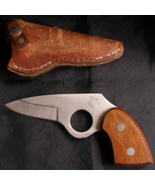 Fury 11818 Collectible Knife in Leather Sheath Metal Clip On Snap Vintag... - $34.99