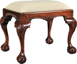 Bench Chippendale Cabriole Legs Ball And Claw Feet Neutral - £592.24 GBP