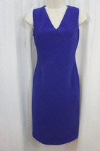 Anne Klein Dress Sz 6 Ultra Violet Purple Sleeveless Business Cocktail P... - $69.26