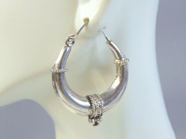 Womens Vintage Estate Sterling Silver Earrings 11.8g E1462 - $59.40