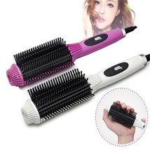 2 In 1 Multifunction Hair Curler Electric Straightener Brush Iron Stylin... - $14.37