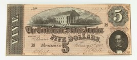 1864 Confédéré Note En Au + État T-69 - $148.10