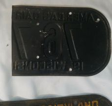 """1945 WISCONSIN License Plate Tab & 1942 License Plate, """"RARE"""" WW2 image 5"""