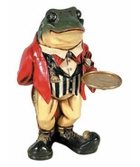 Frog Butler Statue Alice and Wonderland Decor Restaurant Bar Display Prop - $125.13