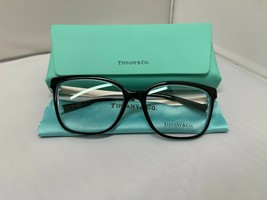 Tiffany & Co TF2189 8274 BLACK/BLUE Rx Eyeglass Frames 54-17-140 Brand New - $135.44