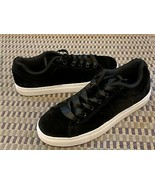 FILA AMALFI BLACK VELOUR VELVET RIBBON LACES FASHION Sneakers 9 M 5CM001... - $24.75