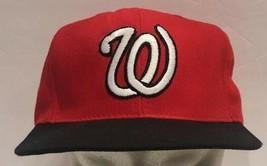 Washington Nationals Baseball MLB Snapback Hat Cap Red Black Vtg Reynold... - $18.69
