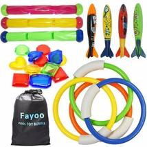 Fayoo 23 Pack Underwater Swimming/Diving Pool Toys Diving Rings(4 Pcs), ... - $16.68