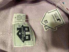 Storybook Knits Lavender Zip Up Cardigan Sweater Plus Size 1X Gems HSN image 5