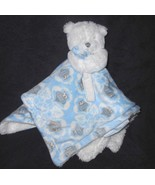 Blankets and Beyond Baby Security Blanket Owls Bear Blue Grey White Paci... - $14.83