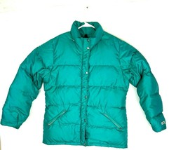 VTG The North Face Women's Teal Goose Down Puffer Zip Of Jacket Coat Sz ... - $128.70
