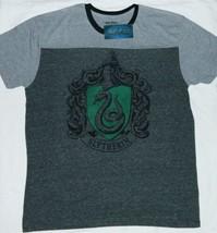 Harry Potter Hogwarts House of Slytherin Logo Two-Tone Ringer T-Shirt NE... - $19.99