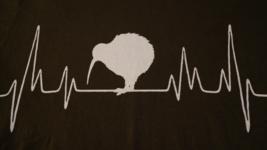 Kiwi Bird Heartbeat, New Zealand, NEW/MINT, Medium Mens T-Shirt - $8.95
