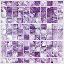 Hominter Tile Sample 3 x 12 Inches: Purple Mother of Pearl Tile Backsplash, Bath - $25.95
