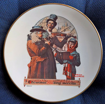 Gorham Norman Rockwell Christmas Trio 1976 Collectors Plate - $18.50