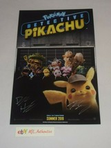 POKEMON DETECTIVE PIKACHU SCREENWRITER SIGNED AUTOGRAPHED 11x17 POSTER C... - $66.47