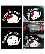 "Car-Styling Cartoon Car Stickers Vinyl Decal Baby on Board ""Baby in car""... - $3.95"