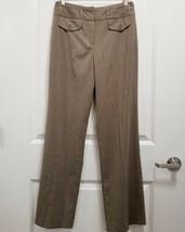 Larry Levine Womens Stretch Dress Pants Size 8 (30 Inseam) Beige Striped... - $23.55