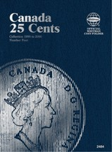 Canadian 25 Cents No. 4 1990-2000, Whitman Coin Folder/Album - $5.75
