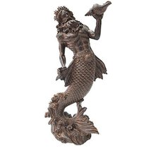 Pacific Giftware Greek God of The Sea: Poseidon Neptune Holding Conch Rising fro - $31.11