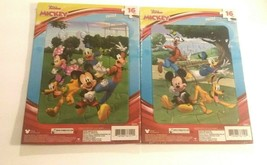 Mickey and Minnie Mouse Pluto Donald Duck Goofy at Play Jigsaw Puzzles, Lot of 2 - $10.88