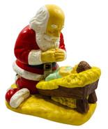 "VTG Kneeling Santa with Jesus Statue R.P. GAUER 1992 Full Color 8 1/2""x ... - $49.49"