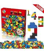 Building Blocks 500 Pieces Set, Building Bricks Creative DIY Interlockin... - $12.27