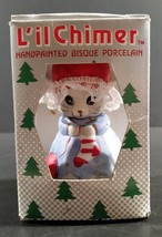 L'il Chimer Hand Painted Bisque Porcelain Mouse Bell Christmas Tree Orna... - $4.99