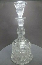 Hand Cut glass bell shape decanter glass ABP   - $139.32