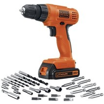 BLACK+DECKER LD120VA 20-Volt Max Lithium Drill/Driver with 30 Accessories - $92.98